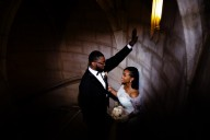 black couple wedding portraits riverside church