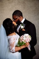 chic black couple wedding day