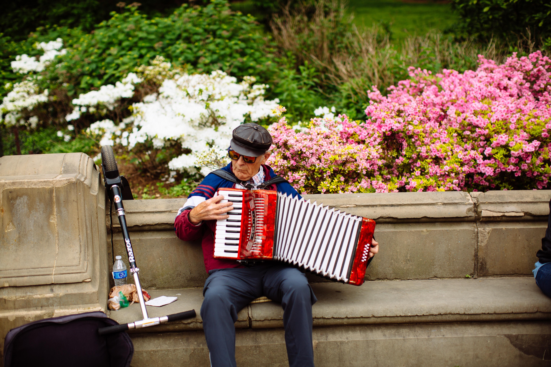 Musician at Central Park Pop-Up Wedding