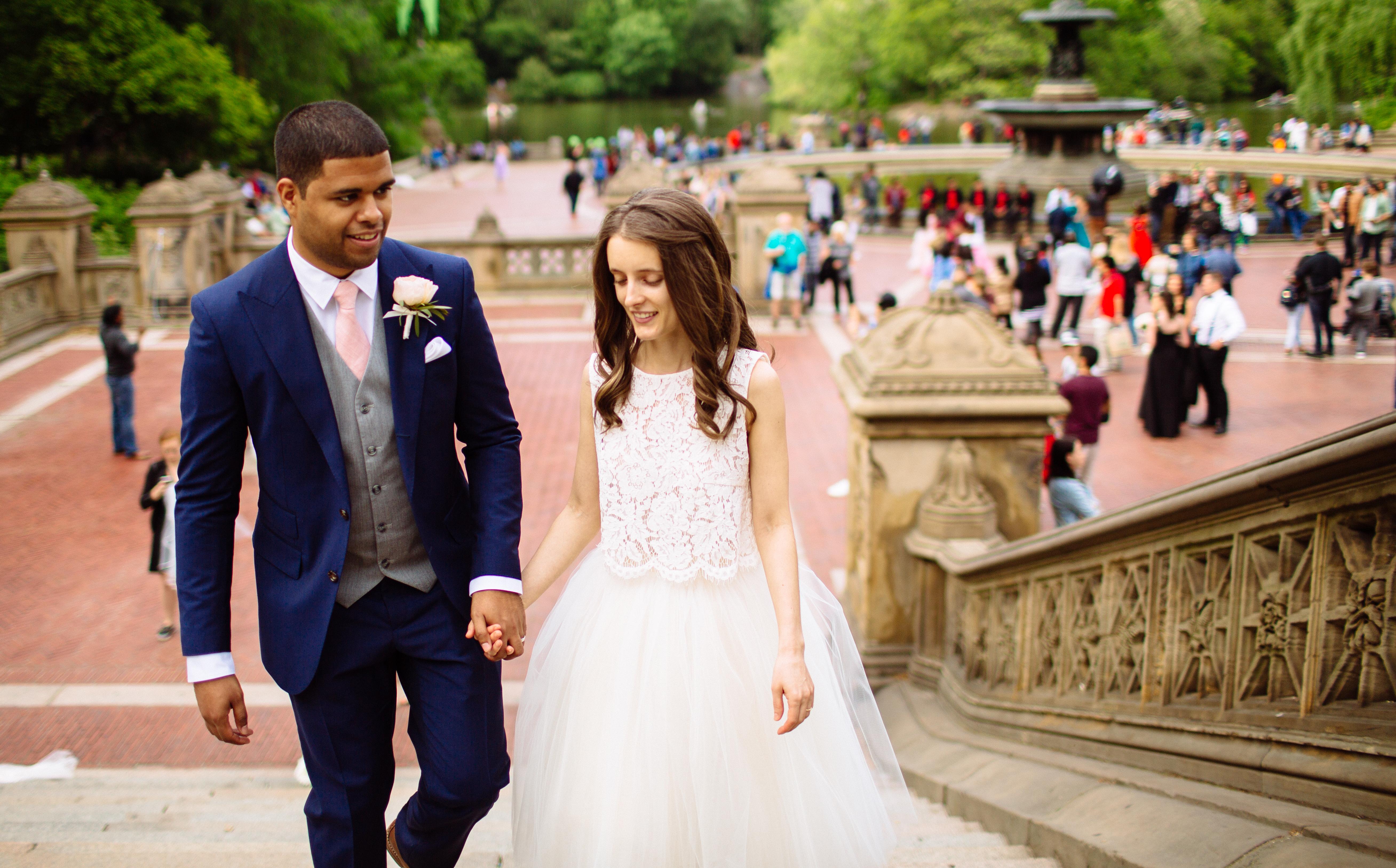 Central park Wedding Bethesda Fountain