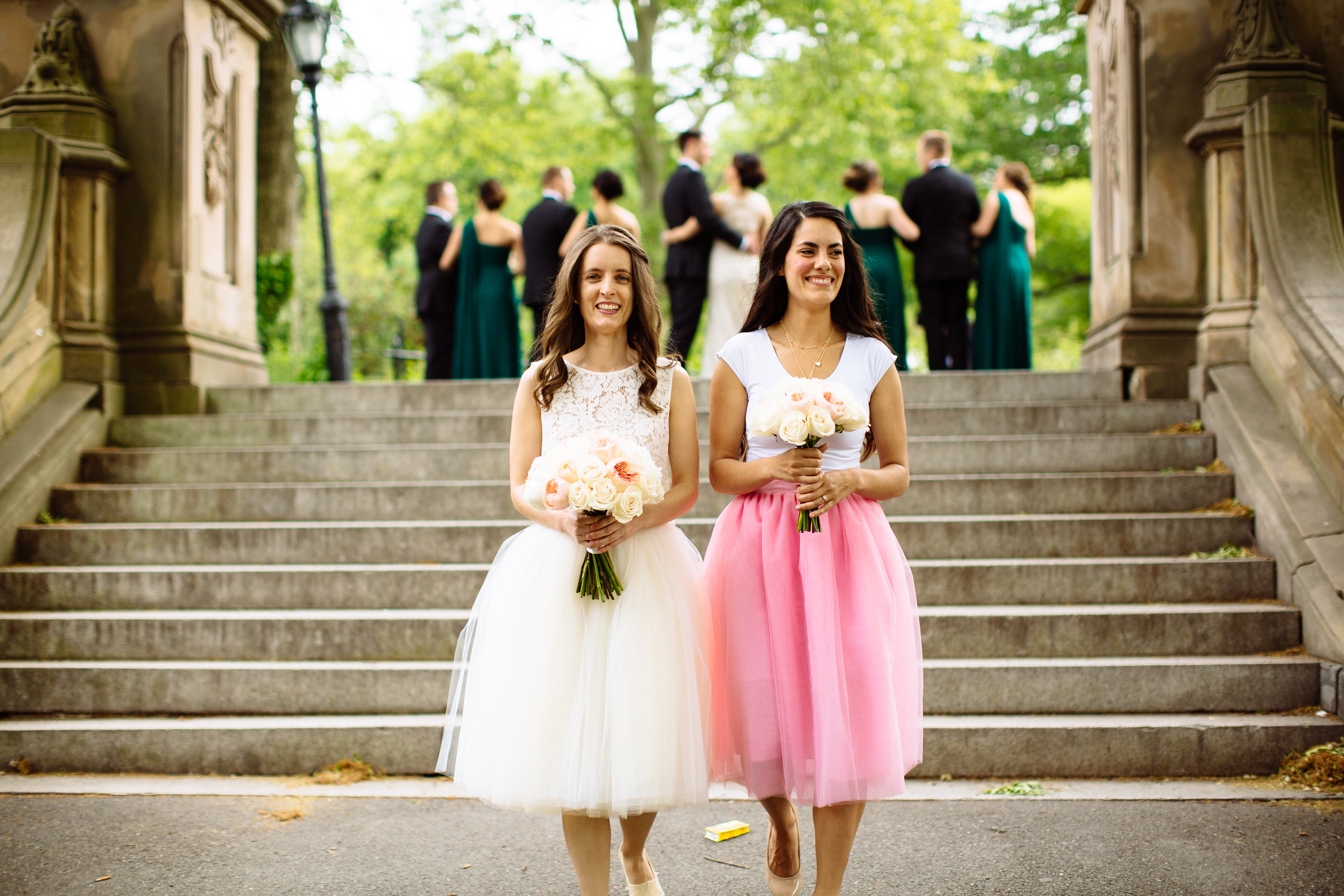 Bridal party at Central Park pop up wedding in New York