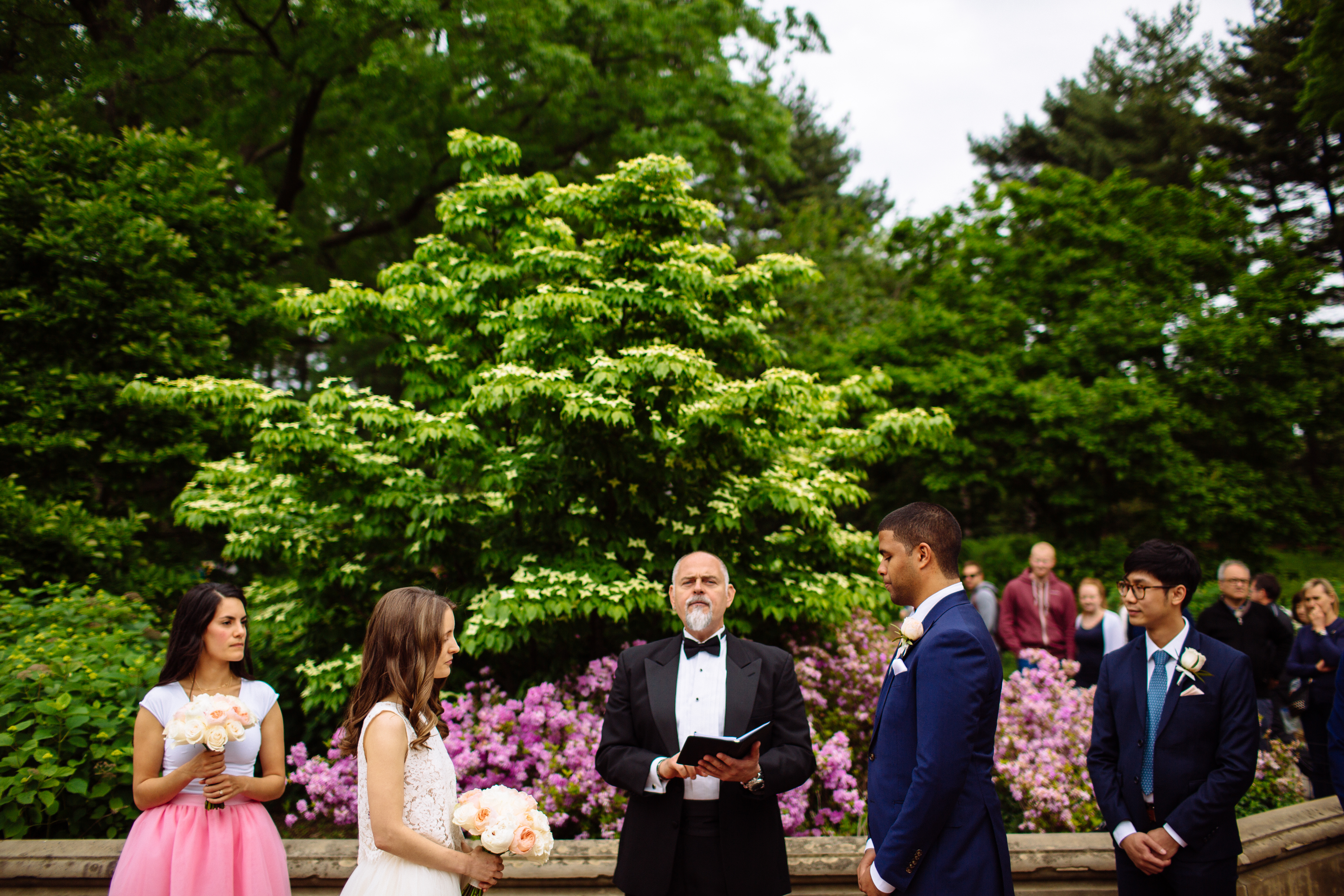 Wedding Ceremony at Central Park in the Summer