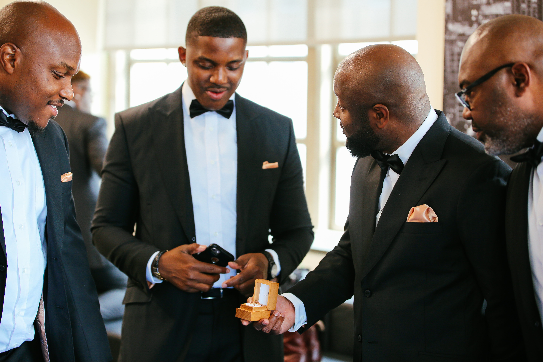 groomsmen comedy ring photo