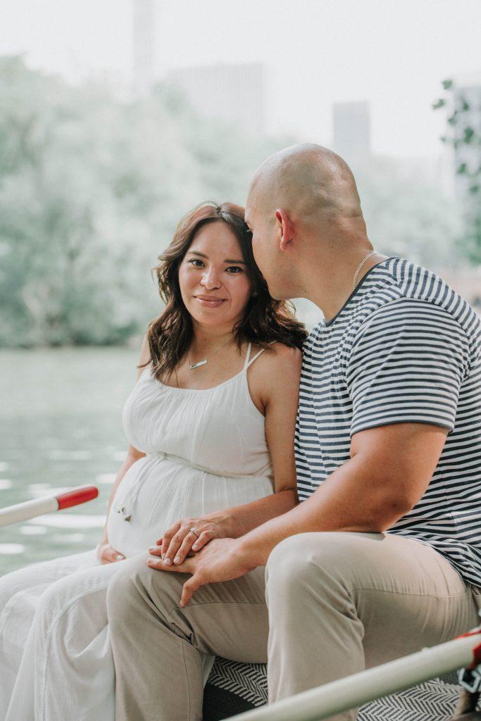 Central Park rowboat maternity