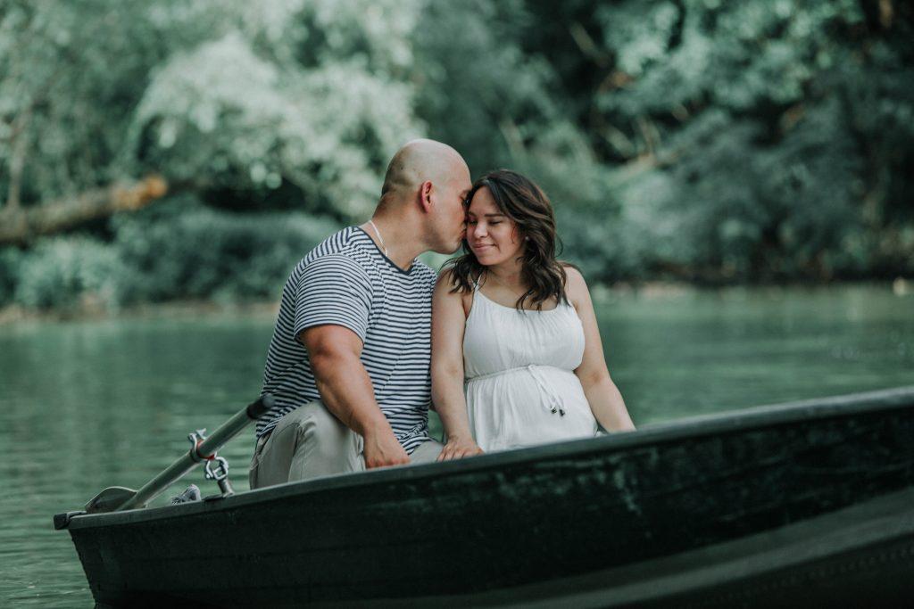 romantic rowboat summer shoot