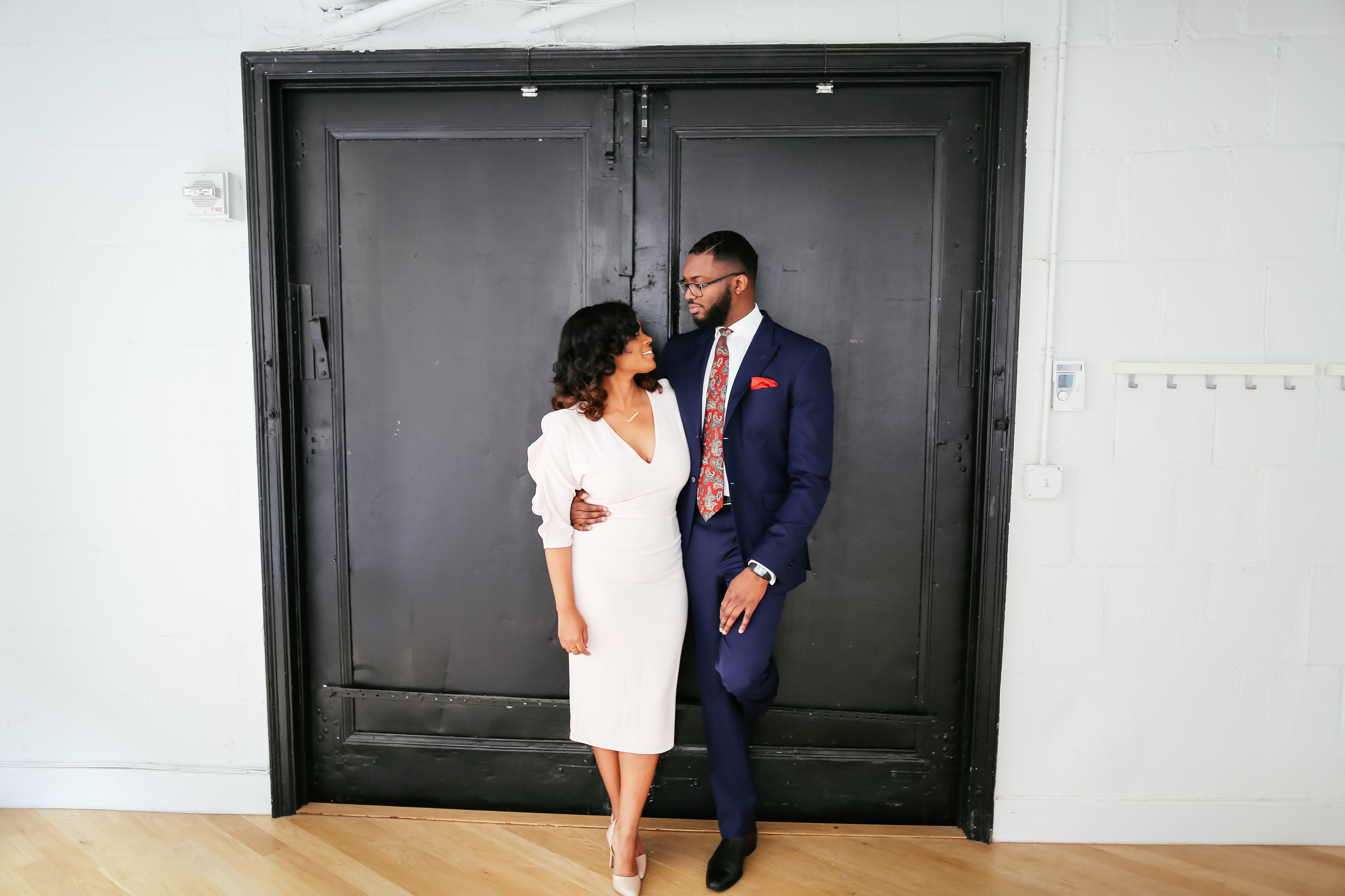 Stylish engagement photos by NYC engagement photographers