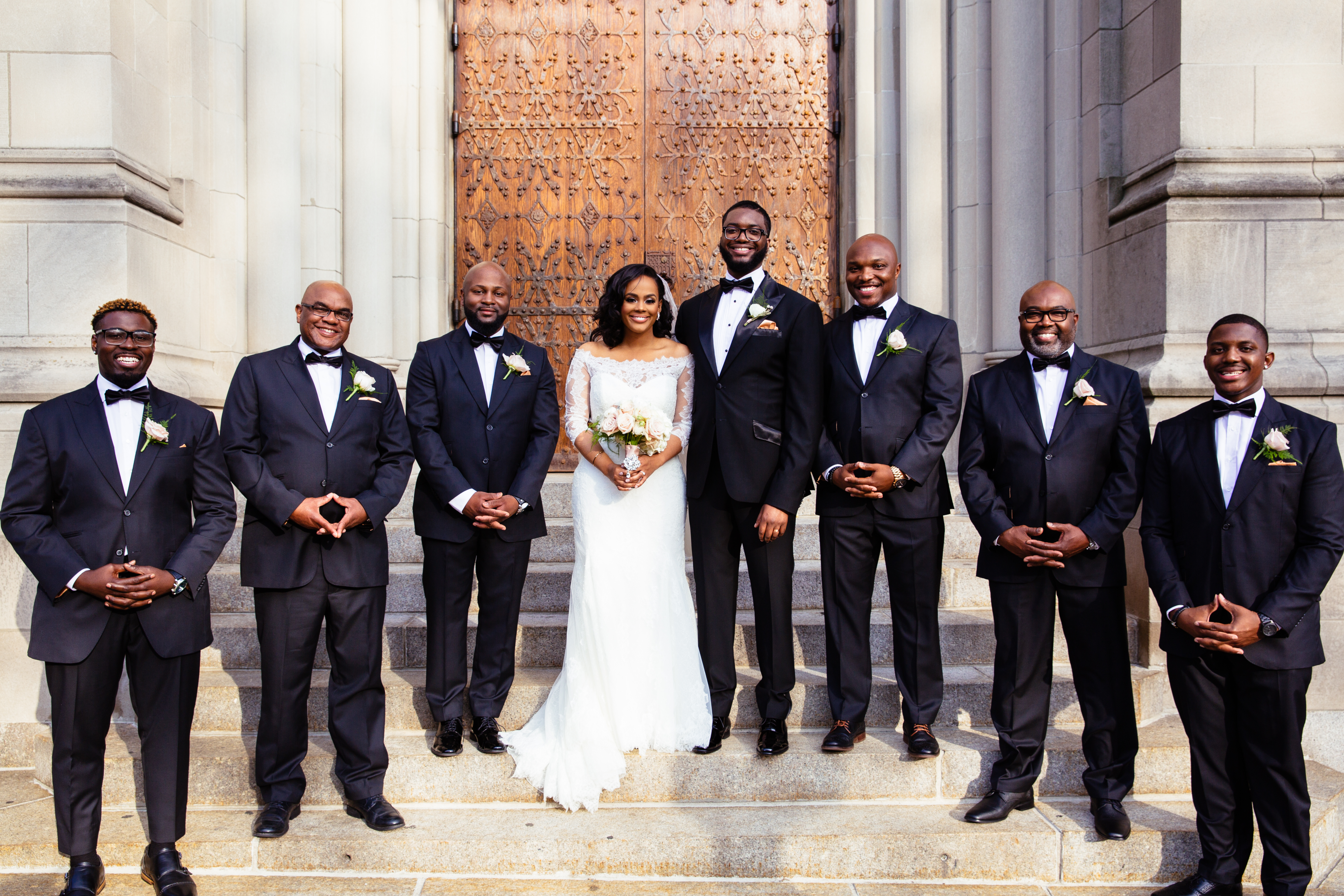 Riverside church groomsmen