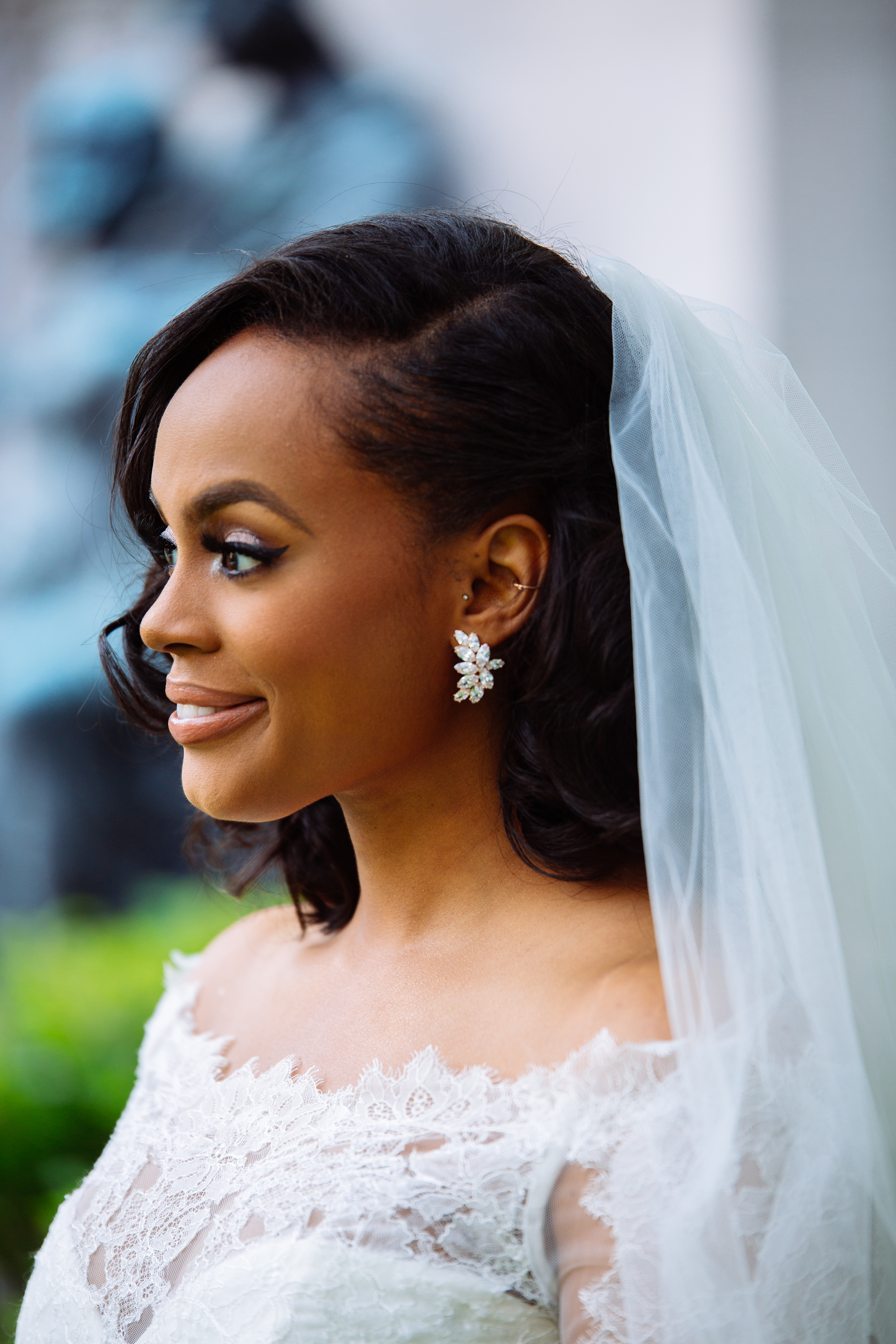 black bride wedding details