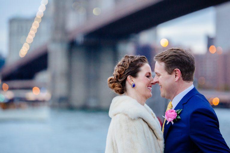 winter wedding nyc brooklyn bridge christmas
