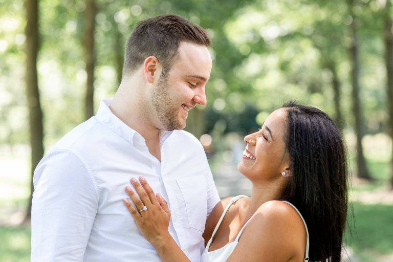 engagement shoot botanical garden brooklyn nyc
